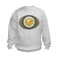 Indian gold oval 3 Sweatshirt