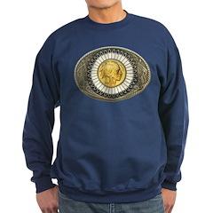 Indian gold oval 3 Sweatshirt