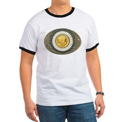 Indian gold oval 3 Ringer T