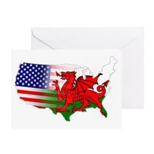 American Welsh Map Greeting Card