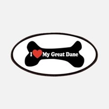 I Love My Great Dane - Dog Bone Patches