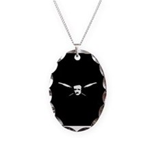 Poe Necklace Oval Charm