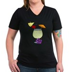 Image3.png Women's V-Neck Dark T-Shirt