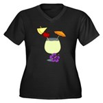 Image3.png Women's Plus Size V-Neck Dark T-Shirt