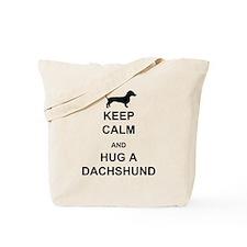 Dachshund - Keep Calm and Hug a Dachshund Tote Bag