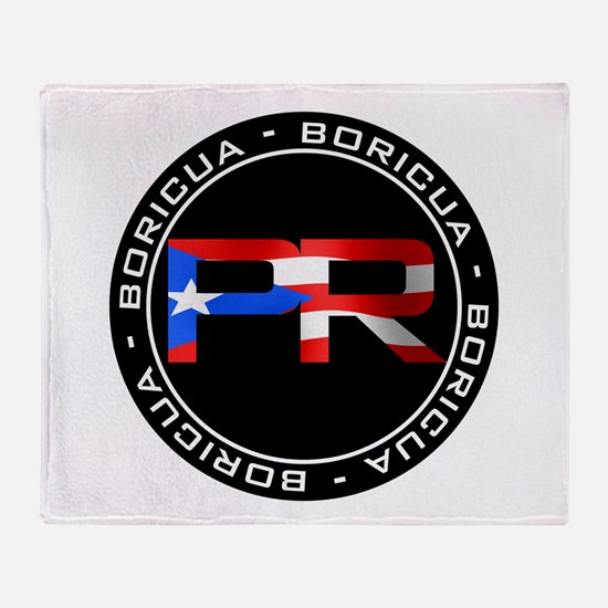 PR BORICUA Throw Blanket