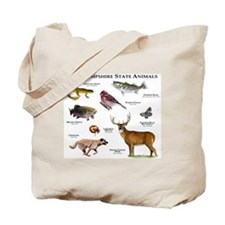 New Hampshire State Animals Tote Bag