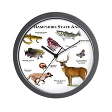 New Hampshire State Animals Wall Clock