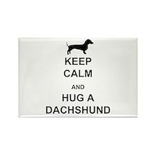 Dachshund - Keep Calm and Hug a Dachshund Rectangl
