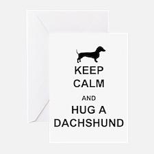 Dachshund - Keep Calm and Hug a Dachshund Greeting