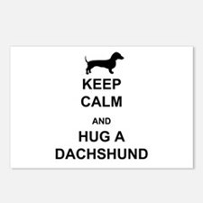 Dachshund - Keep Calm and Hug a Dachshund Postcard
