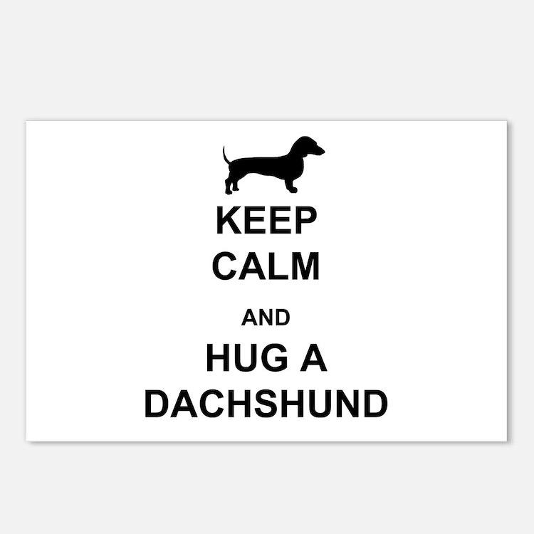 Dachshund - Keep Calm and Hug a Dachshund Postcard
