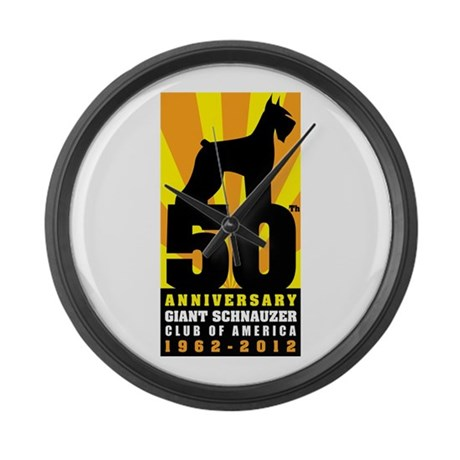 Giant Schnauzer 50th Anniversary Logo Large Wall C