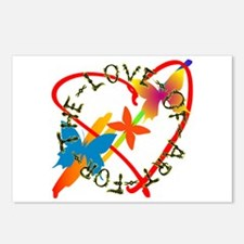 For The Love Of Art Postcards (Package of 8)