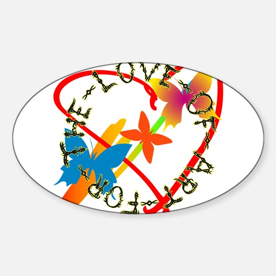 For The Love Of Art Sticker (Oval)