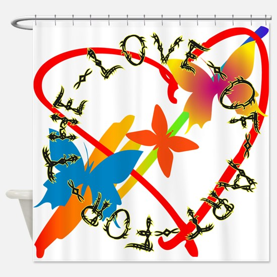 For The Love Of Art Shower Curtain