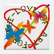 For The Love Of Art Tile Coaster
