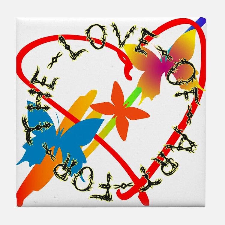 For The Love Of Art Tile Coaster