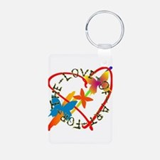 For The Love Of Art Aluminum Photo Keychain