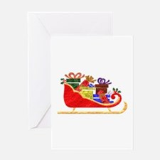 Sleigh With GIfts Greeting Card