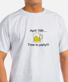 April 15th - Time to Party (Beer) T-Shirt
