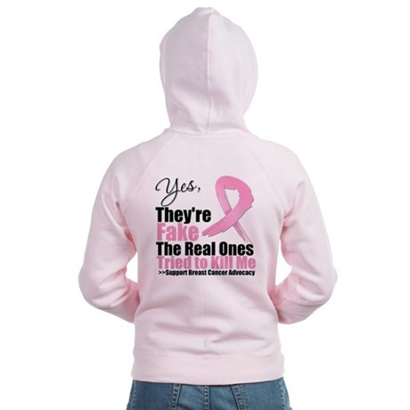 Breast Cancer Yes They Fake Women's Zip Hoodie
