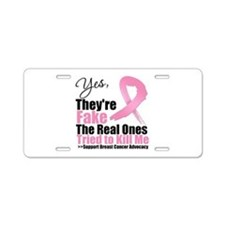 Breast Cancer Yes They Fake Aluminum License Plate