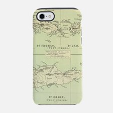 Vintage Map of The Virgin Isla iPhone 7 Tough Case