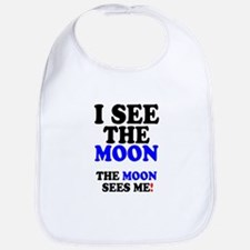 I SEE THE MOON! - Baby Bib