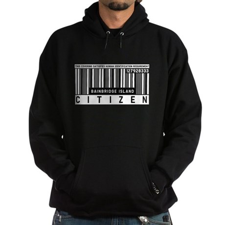 Bainbridge Island, Citizen Barcode, Hoodie (dark)