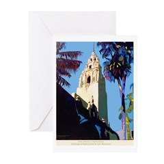 The California Tower Greeting Cards (Pk of 10)