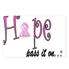 Hope Pass It On Pink Ribbon Postcards (Package of