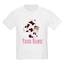 4th Birthday Girl Horse T-Shirt