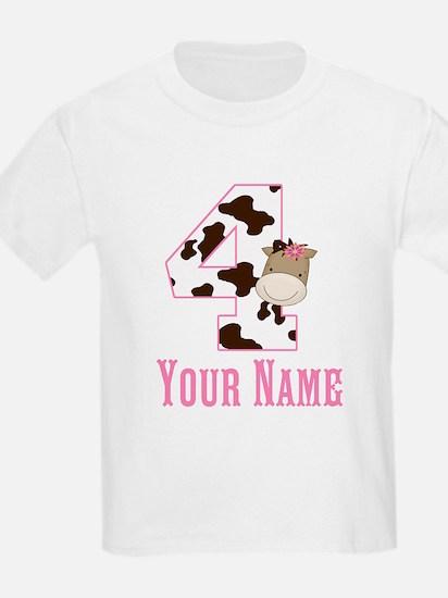 4th Birthday Girl Horse T-Shirt