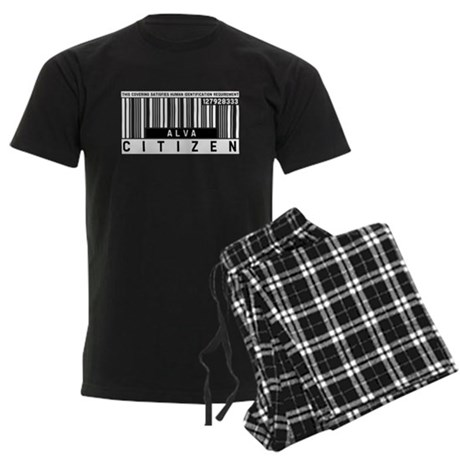 Alva, Citizen Barcode, Men's Dark Pajamas