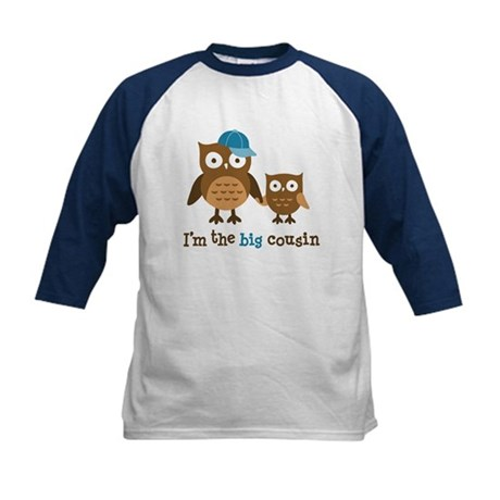 Big Cousin - Mod Owl Kids Baseball Jersey