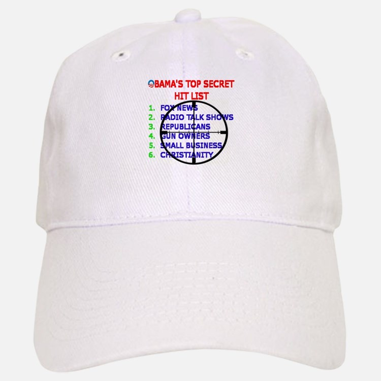 OBAMAS HIT LIST Baseball Baseball Cap
