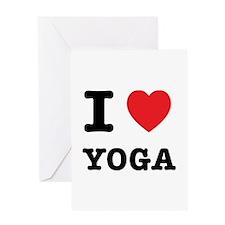 I Heart Yoga Greeting Card