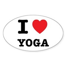 I Heart Yoga Decal
