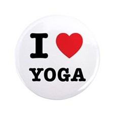 """I Heart Yoga 3.5"""" Button (100 pack)"""