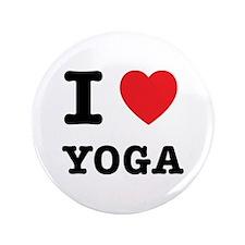 "I Heart Yoga 3.5"" Button"