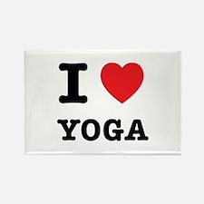 I Heart Yoga Rectangle Magnet (100 pack)