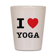 I Heart Yoga Shot Glass