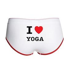 I Heart Yoga Women's Boy Brief