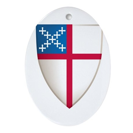 Episcopal Shield Ornament (Oval)