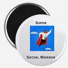 """Super Social Worker 2.25"""" Magnet (100 pack)"""