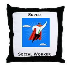 Super Social Worker Throw Pillow