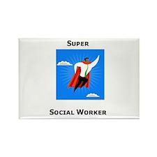 Super Social Worker Rectangle Magnet