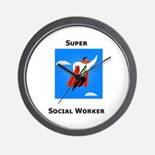 Super Social Worker Wall Clock