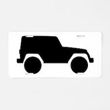 Jeep Outline Aluminum License Plate